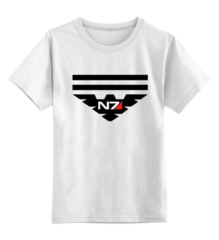 Детская футболка классическая унисекс Printio N7 (масс эффект) майка классическая printio n7 масс эффект