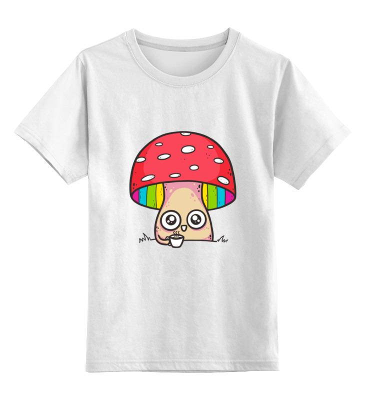 Детская футболка классическая унисекс Printio Мухомор