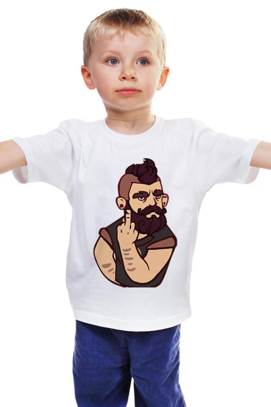 Детская футболка классическая унисекс Printio Bearded / бородач детская футболка классическая унисекс printio бородач