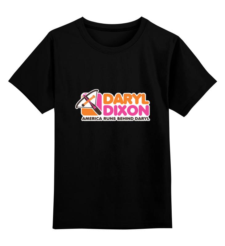 Детская футболка классическая унисекс Printio Дэрил диксон (ходячие мертвецы)