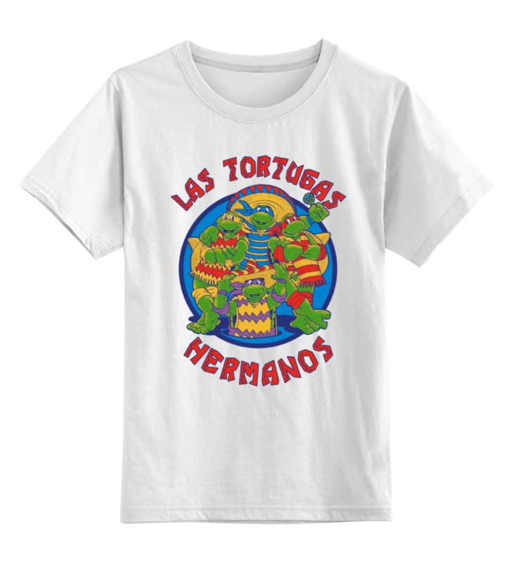 Детская футболка классическая унисекс Printio Las tortugas hermanos las maldiciones