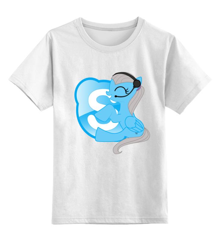 Детская футболка классическая унисекс Printio Pony-skype