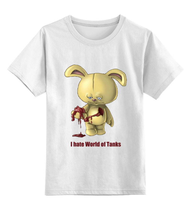 Детская футболка классическая унисекс Printio Ненавижу танчики