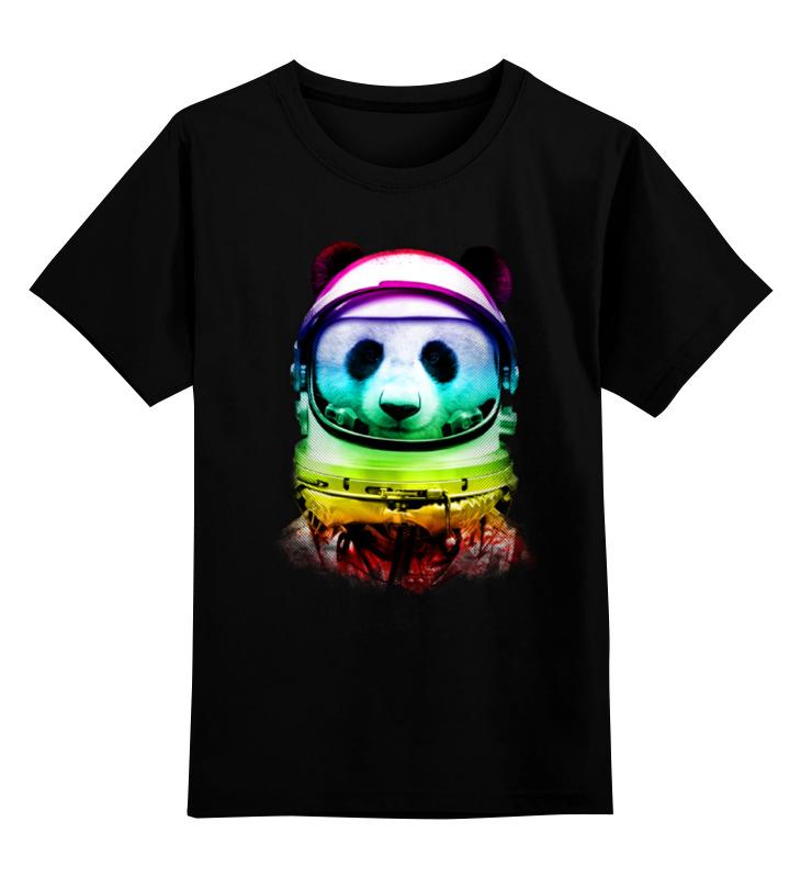 Детская футболка классическая унисекс Printio Панда космонавт детская футболка классическая унисекс printio панда космонавт