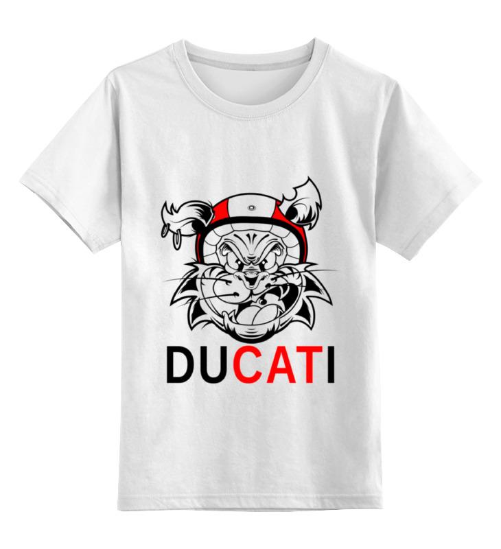 Детская футболка классическая унисекс Printio Ducati