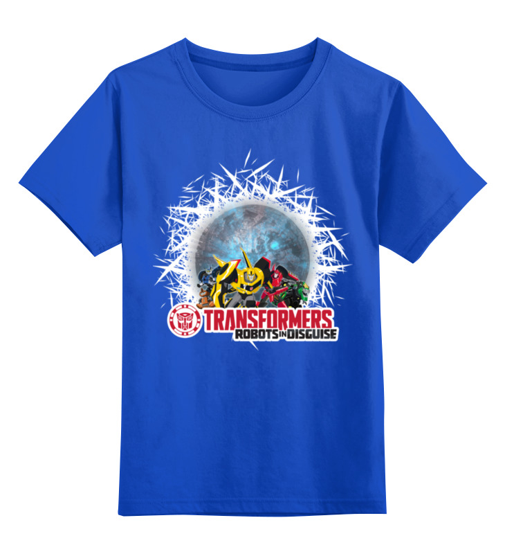 Детская футболка классическая унисекс Printio Трансформеры. роботы под прикрытием