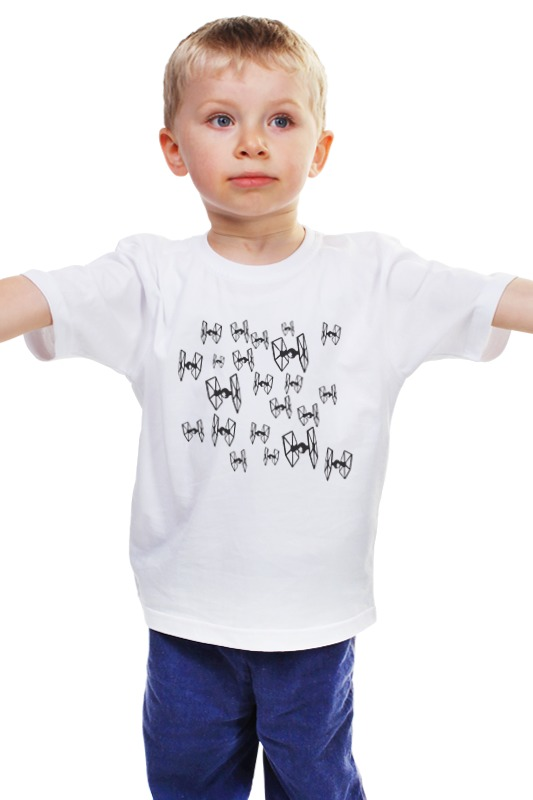 Детская футболка классическая унисекс Printio Имперские корабли серии tie