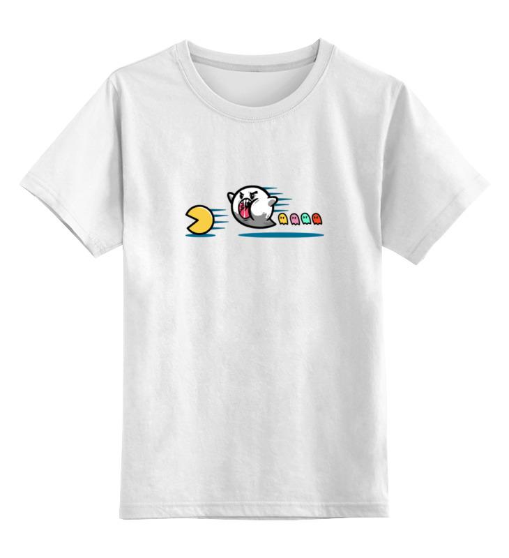 Детская футболка классическая унисекс Printio Пакман приведение sbart upf50 rashguard 2 bodyboard 1006