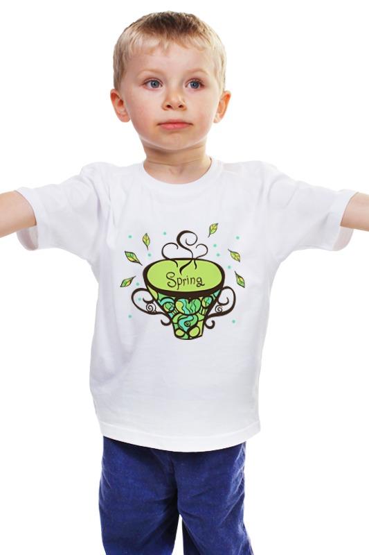 Детская футболка классическая унисекс Printio Зеленый чай купить дачу в калининграде 300 тыс
