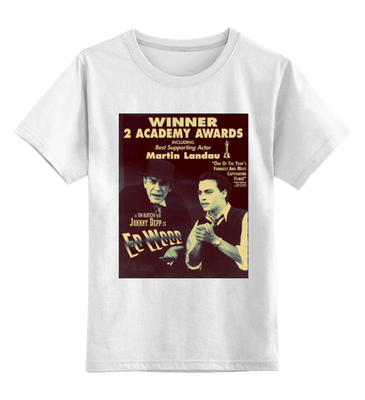 Детская футболка классическая унисекс Printio Эд вуд футболка wearcraft premium slim fit printio эд вуд
