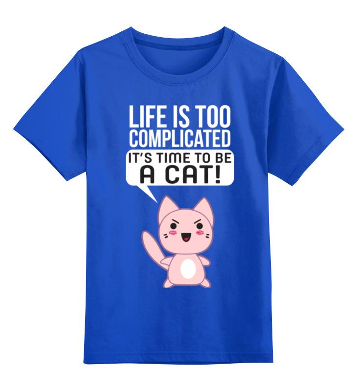 Детская футболка классическая унисекс Printio Life cat