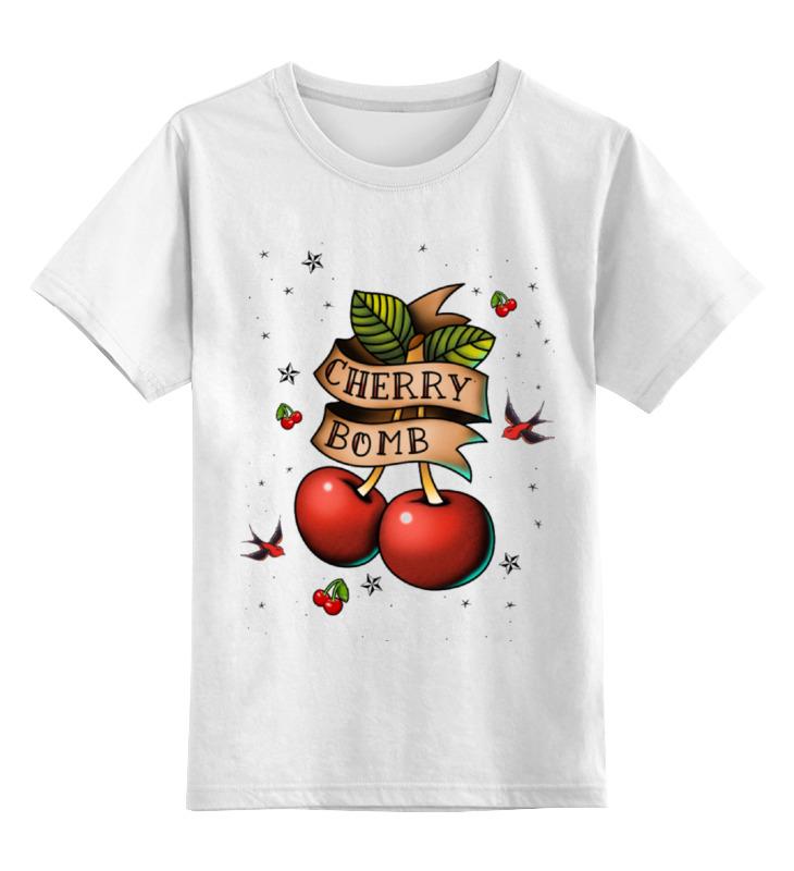 Детская футболка классическая унисекс Printio Cherry bomb футболка стрэйч printio cherry bomb
