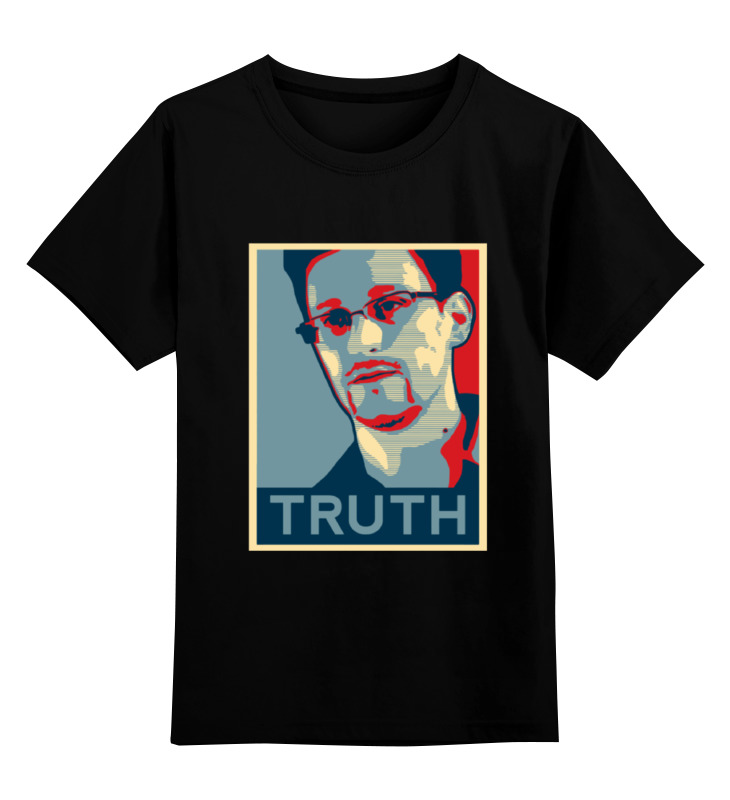 цена на Детская футболка классическая унисекс Printio Правда (эдвард сноуден)