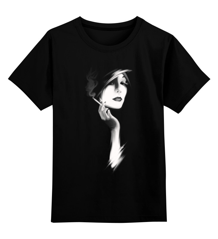 Детская футболка классическая унисекс Printio Девушка с сигаретой футболка классическая printio девушка с завязанными глазами