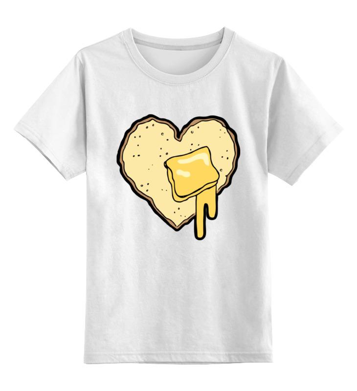 Детская футболка классическая унисекс Printio Хлеб с маслом футболка хлеб