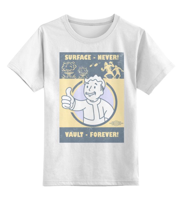 Детская футболка классическая унисекс Printio Fallout. vault - forever! футболка классическая printio fallout фэллаут