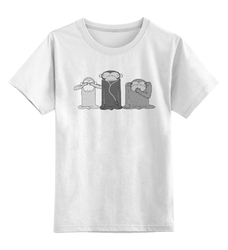 Детская футболка классическая унисекс Printio Three apes guano apes saarbrücken
