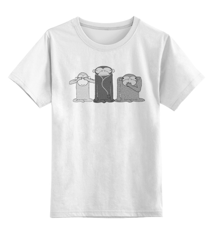 Детская футболка классическая унисекс Printio Three apes guano apes cologne