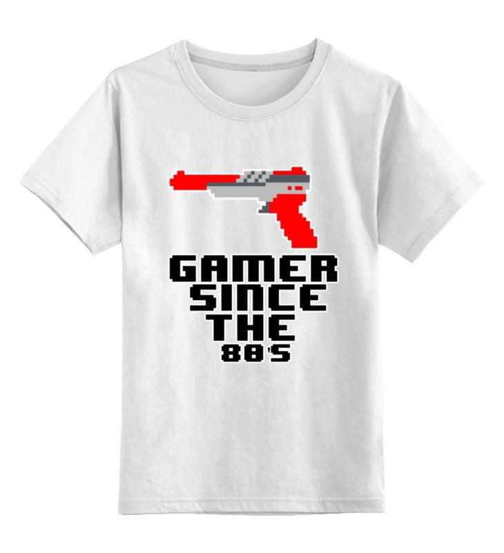 Детская футболка классическая унисекс Printio Играю с 80-х детская футболка классическая унисекс printio сделан в 80 е