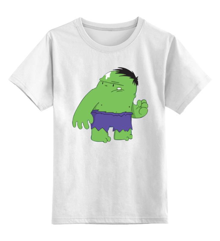 Детская футболка классическая унисекс Printio Зеленый монстрик цена и фото