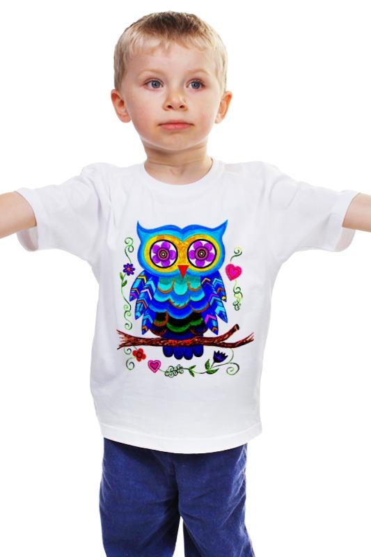 Детская футболка классическая унисекс Printio Очаровашка совенок. свеча совенок