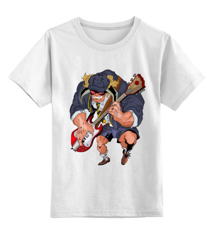 Детская футболка классическая унисекс Printio Ac/dc - angus mckinnon young толстовка wearcraft premium унисекс printio ac dc angus young
