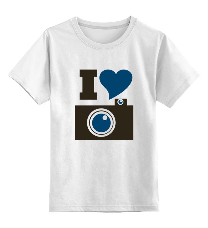 Детская футболка классическая унисекс Printio Я люблю фото (селфи) цена