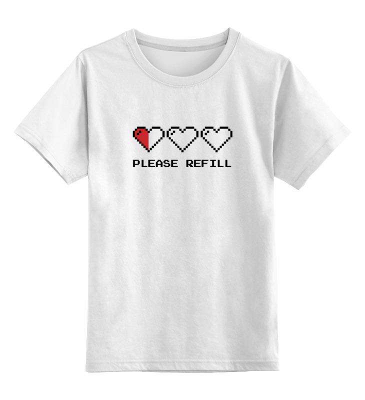 Детская футболка классическая унисекс Printio Пиксельные сердца (8-бит) детская футболка классическая унисекс printio пиксельные зомби