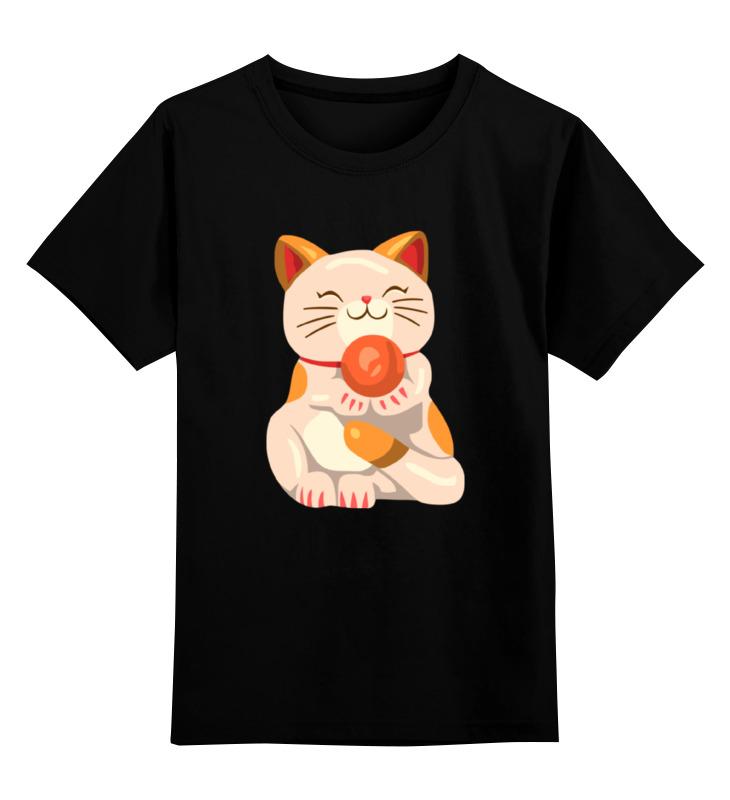 Детская футболка классическая унисекс Printio Милый котик цена и фото
