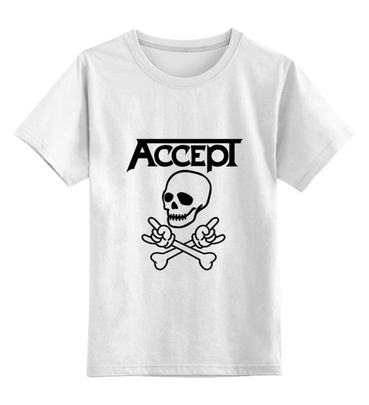 Детская футболка классическая унисекс Printio Accept accept belém