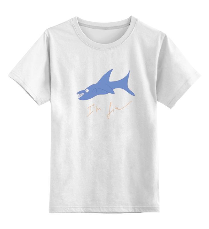 Детская футболка классическая унисекс Printio Акула новые приобретения пол акула акула кашемир сгущаться мужской свитер
