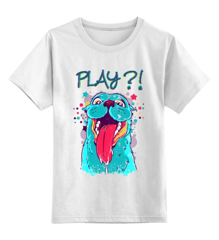 Детская футболка классическая унисекс Printio Play? майка классическая printio play