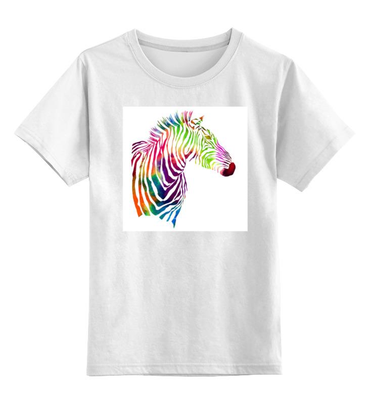 Детская футболка классическая унисекс Printio My zebra