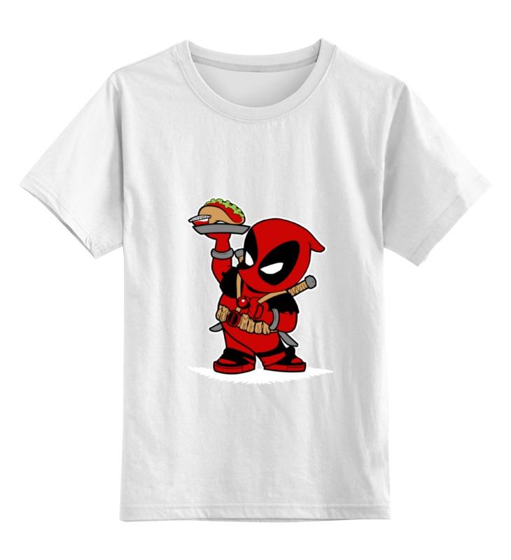 Детская футболка классическая унисекс Printio Little deadpool детская парта little