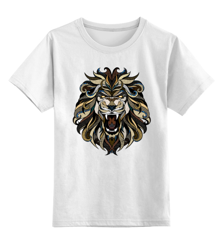 Детская футболка классическая унисекс Printio Рычащий лев детская футболка классическая унисекс printio мачете
