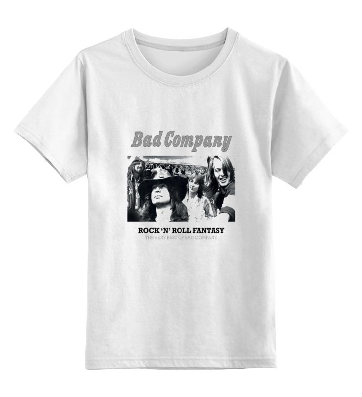 Детская футболка классическая унисекс Printio Группа bad company