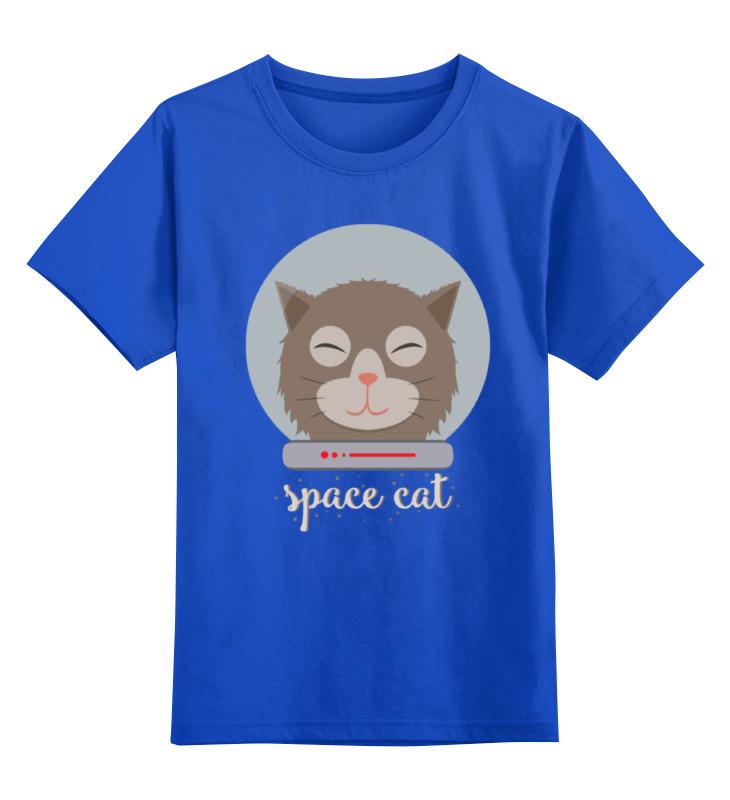 Детская футболка классическая унисекс Printio Космо кот (space cat)