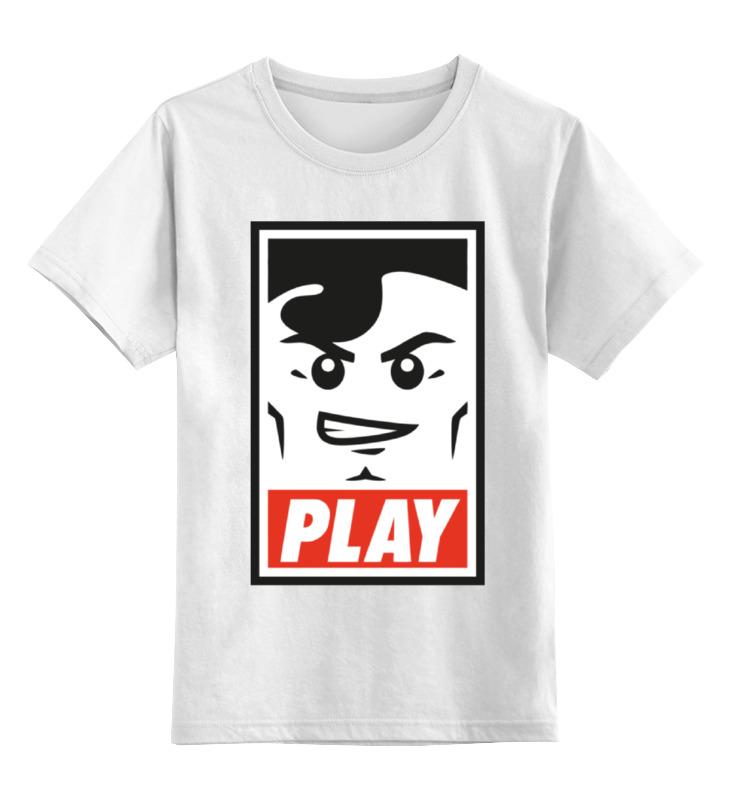 Детская футболка классическая унисекс Printio Lego play (obey) детская футболка классическая унисекс printio starbucks obey