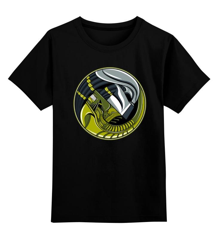 Детская футболка классическая унисекс Printio Чужой против хищника