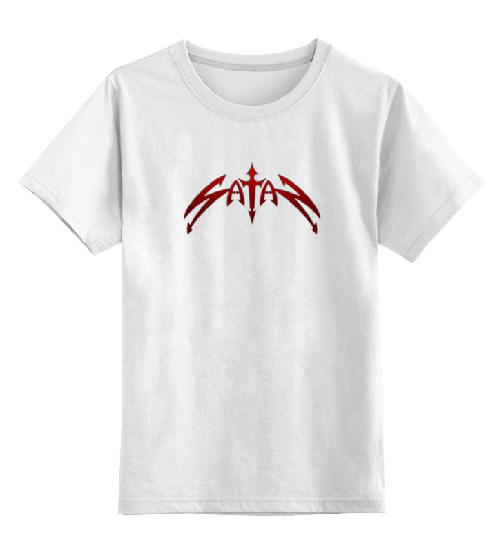 Детская футболка классическая унисекс Printio Satan цена и фото