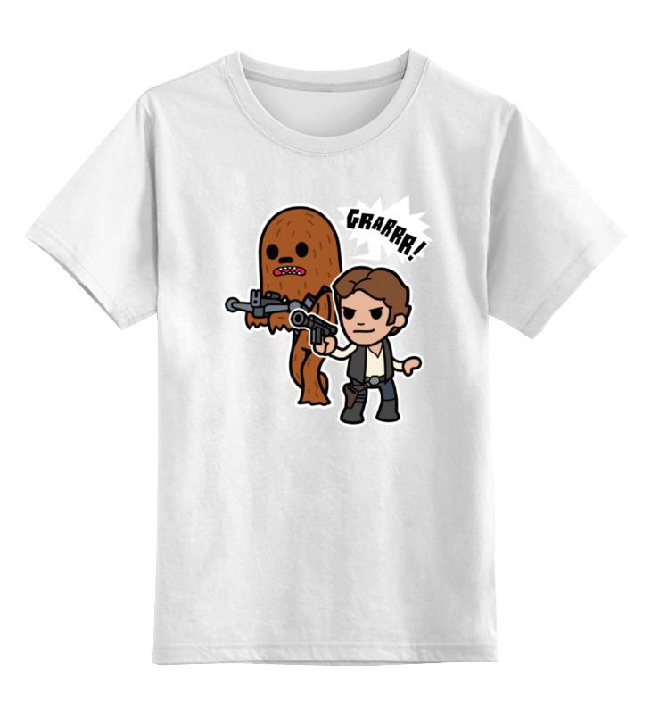 Детская футболка классическая унисекс Printio Хан соло и чубакка детская футболка классическая унисекс printio хан соло и чубакка star wars