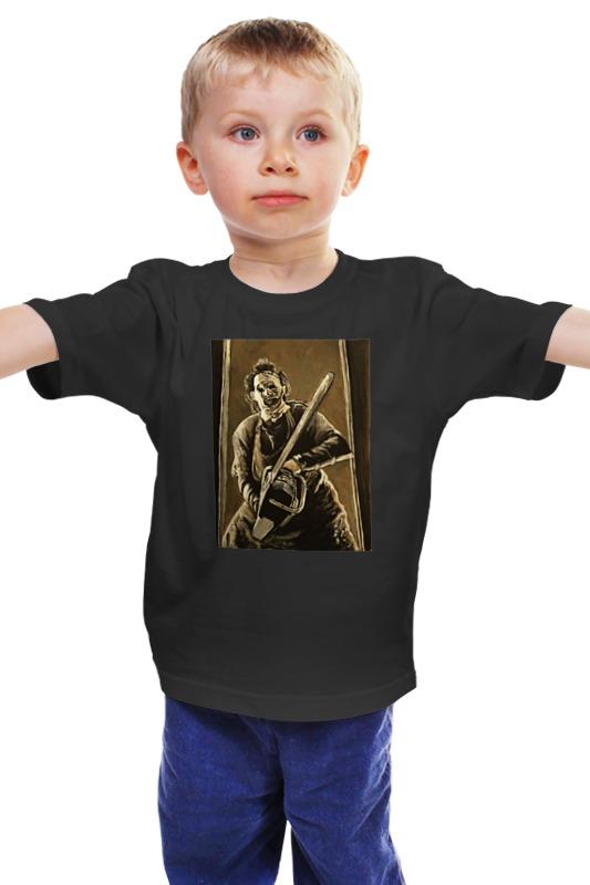 Детская футболка классическая унисекс Printio Кожаное лицо кожаное платье