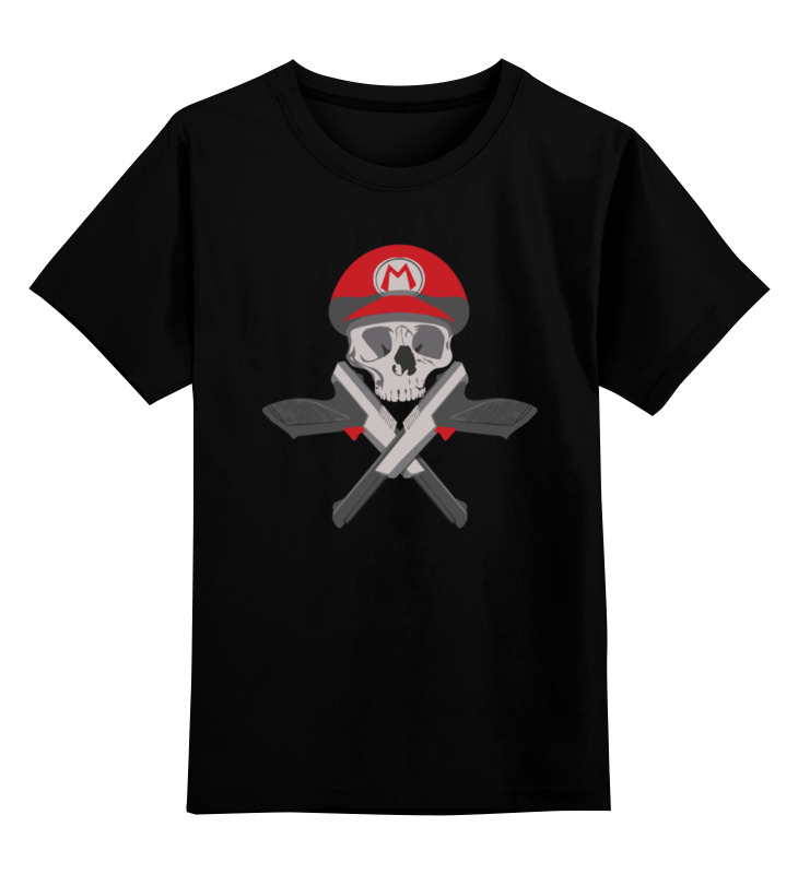 Детская футболка классическая унисекс Printio Череп марио детская футболка классическая унисекс printio кинг бу марио