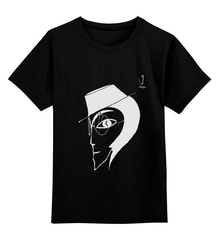 Детская футболка классическая унисекс Printio Человек в шляпе