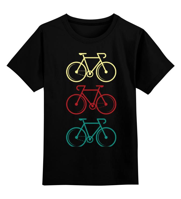 Детская футболка классическая унисекс Printio Велосипеды двухколесные велосипеды novatrack maple 14