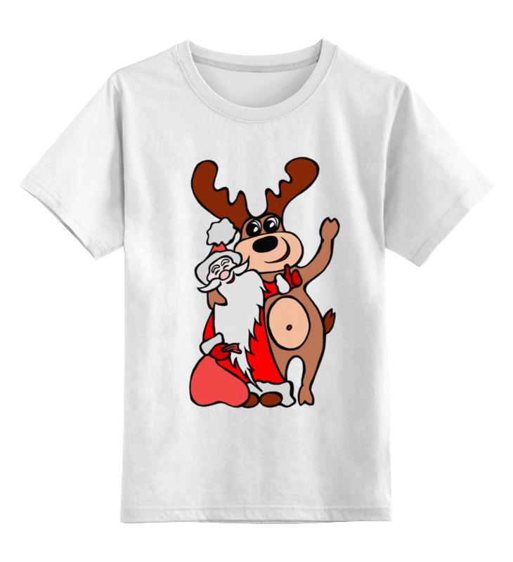 Детская футболка классическая унисекс Printio Дед мороз с оленем шторы в ванную printio дед мороз с оленем