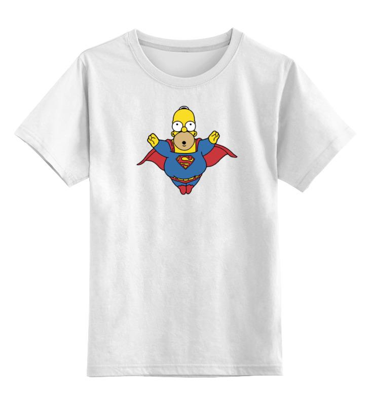 Детская футболка классическая унисекс Printio Супермен гомер