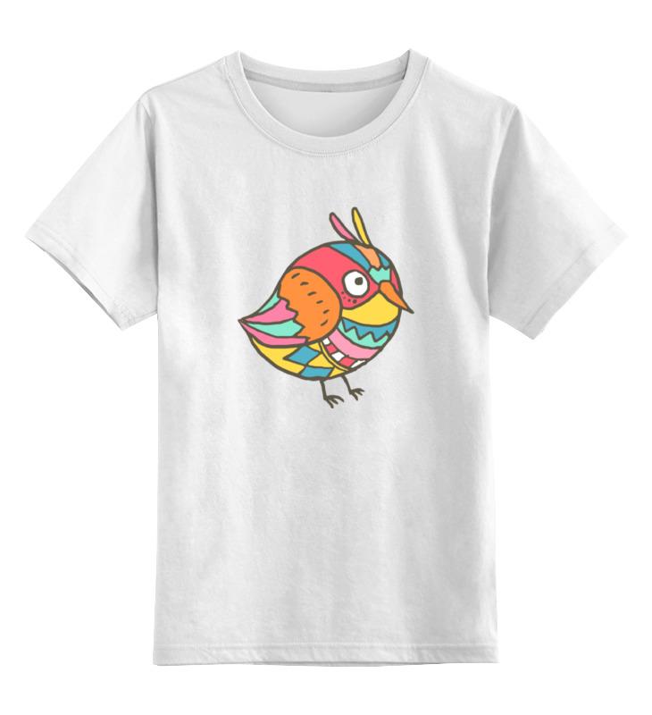 Детская футболка классическая унисекс Printio Этно птичка цена 2017