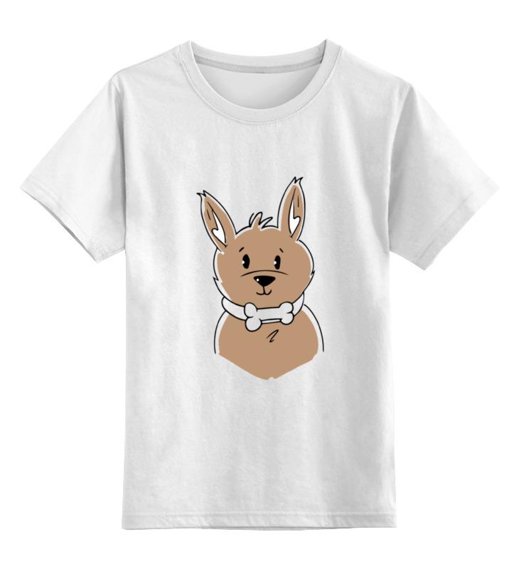 Детская футболка классическая унисекс Printio Собачка
