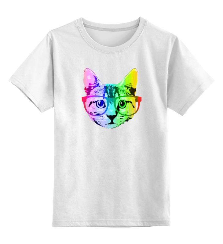 Детская футболка классическая унисекс Printio Радужный кот
